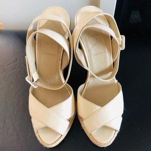 AUTHENTIC CHRISTIAN LOUBOUTIN WEDGED ESPADRILLES